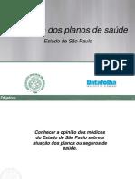Pesquisa Datafolha - sobre usuários de planos de saúde