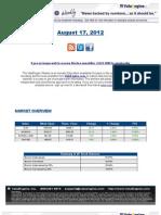 ValuEngine Weekly Newsletter August 17, 2012