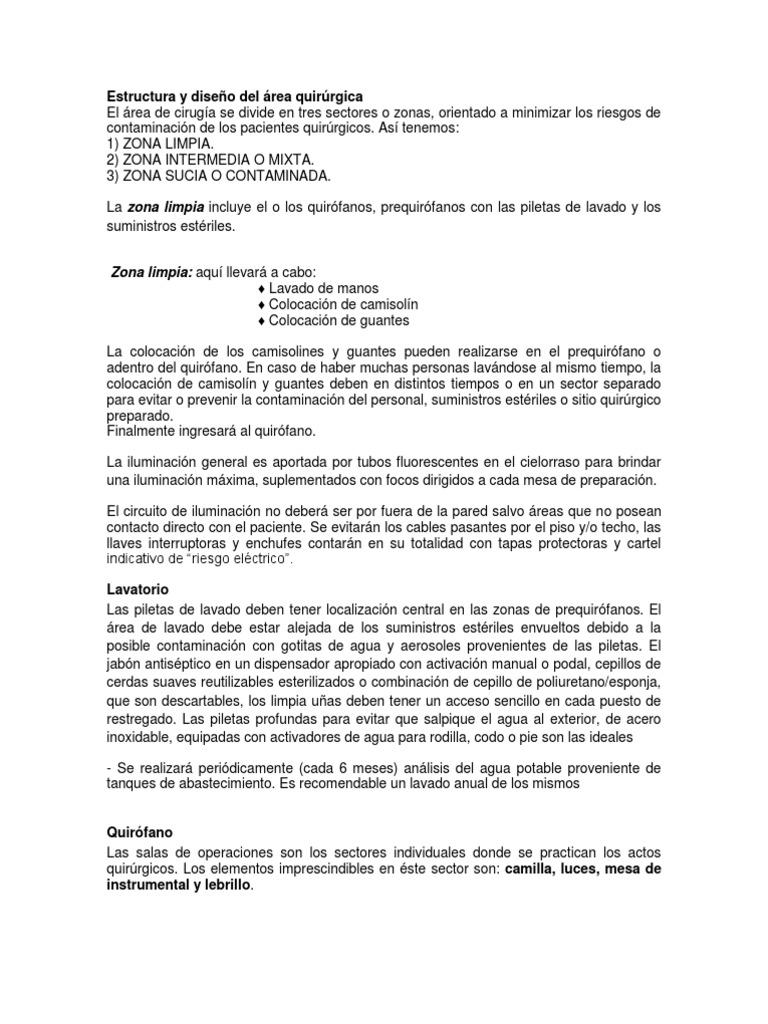 Circuito Quirurgico : Quirófano
