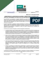 Comunicado SHCP Caso MVS