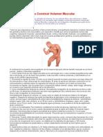 Recomendaciones Volumen Muscular