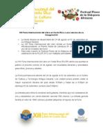 Comunicado de Prensa FILCR - XIII Feria Internacional del Libro a una semana de su inauguración