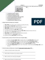 Test Pasado Simple y Continuo