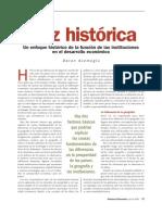 Acemoglu - Raíz Histórica - Un enfoque histórico de las instituciones en el desarrollo económico