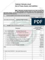 Dr Arif Alvi - PTI Leadership - Financial Asset Declaration