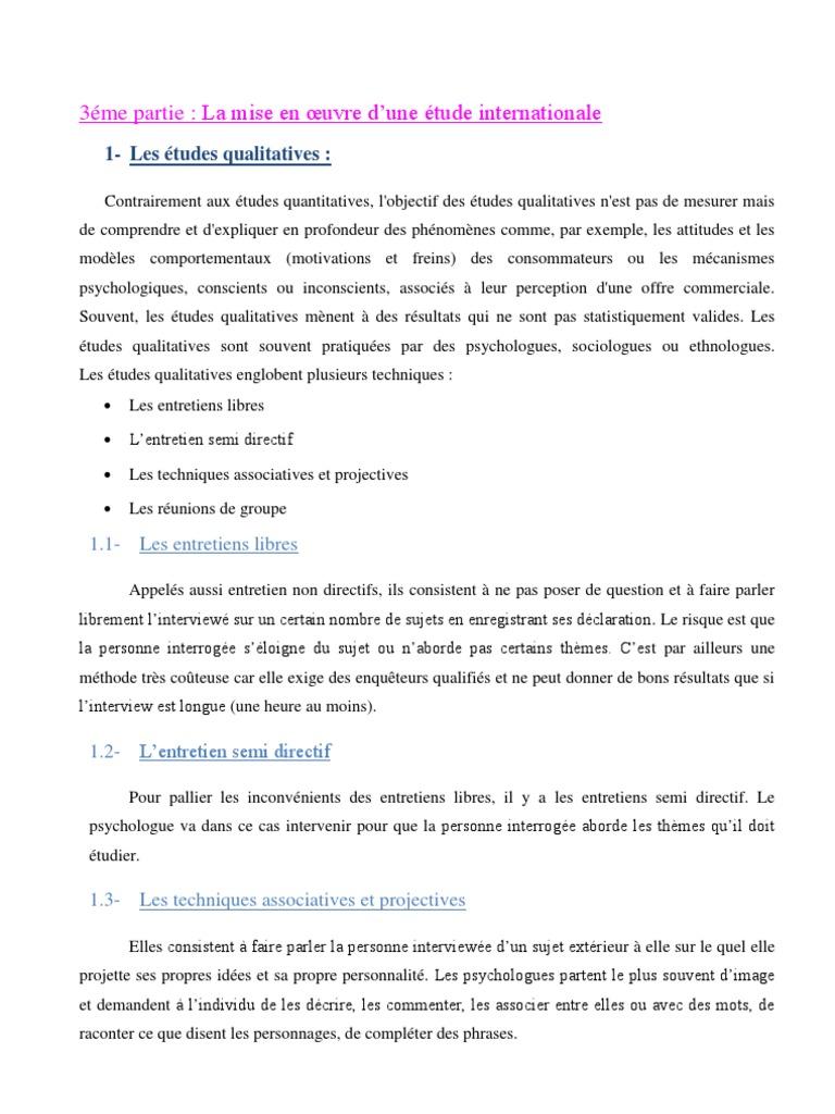 Exemple D Un Guide D Entretien Semi Directif - Le Meilleur ...