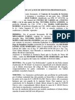 Contrato de Locacion de Servicios Profesionales Cesar Melgarejo