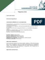 Programa Argentina II 2012