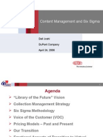 Content Management and Six Sigma  Dell Joshi CM-2