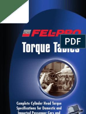 Fel Pro Torque Guide | General Motors | Vehicles
