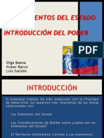 QUINTA EXPOSICIÓN, Elementos Del Estado.