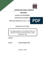 Proyecto de Tesis Las Medidas Cautelares en El Proceso Arbitral 2
