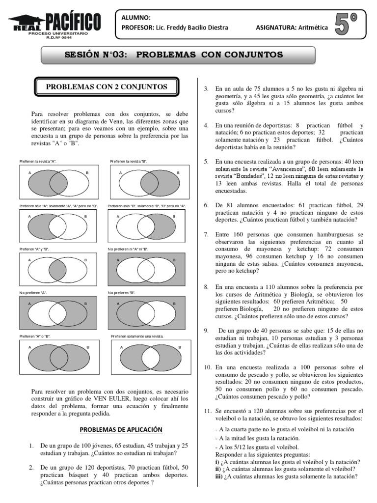 Problemas con 2y3conjuntos ccuart Choice Image