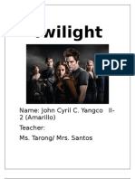 The Twilight the Analysis