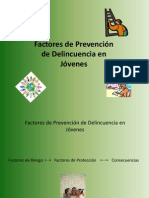 Factores de Prevencion de Delincuencia en Jovenes