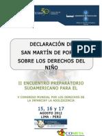Declaración de San Martín de Porres sobre los derechos del niño