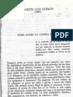 Cómo acabó la guerra en 1917 Martín Luis Guzmán