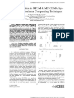 PAPR Reduction in OFDM & MC-CDMA System using Nonlinear Companding Techniques