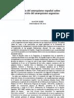 Influencia del anarquismo español sobre la formación del anarquismo argentino - Iaacov Oved