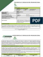 Microcurrículo Comunicación Organizacional I - 2012 (4)