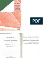 Principios de Filosofia Zoologica Geoffroy Saint Hilaire Parte I