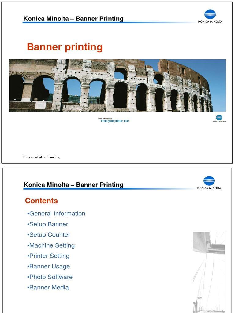 Banner Printing Set Up | Printer (Computing) | Paper