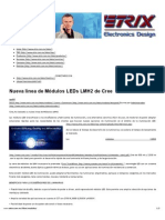 Nueva línea de Módulos LEDs LMH2 de Cree – Etrix – Electronics Design
