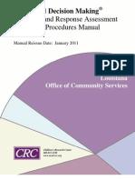 Louisiana SDM Screening and Response Assessment 10-17-2011