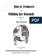 Ludendorff, Erich - Vernichtung Der Freimaurerei Durch Enthuellung Ihrer Geheimnisse (1931, 112 S., Scan, Fraktur)