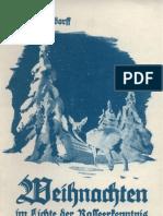 Ludendorff, Erich Und Mathilde - Weihenachten Im Lichte Der Rasseerkenntnis (1937, 35 S., Scan-Text, Fraktur)