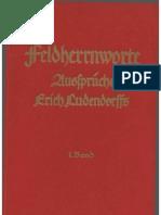 Ludendorffs Verlag - Feldherrnworte - Aussprueche Erich Ludendorffs - 1. Band (1938, 88 S., Scan-Text, Fraktur)
