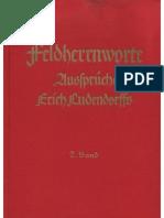 Ludendorffs Verlag - Feldherrnworte - Aussprueche Erich Ludendorffs - 2. Band (1938, 116 S., Scan-Text, Fraktur)