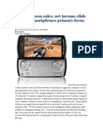 Sony Ericsson Sales