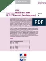 DT4167 - Appareils d'Appui