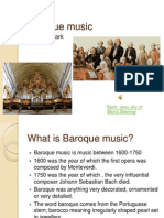 Baroque Music. Edward Clark
