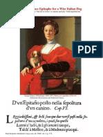 A Renaissance Epitaphe for a Wise Italian Dog