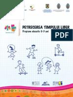 Timpul Liber Jocuri Copii 0-3 Ani Parinti Educatori