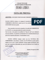 Nota de Prensa Terrorista Bolinaga