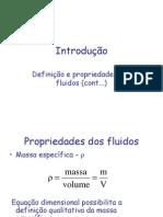 definição e propriedades dos fluidos