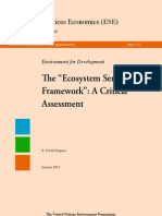 Ecosystem Service Framework