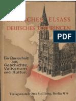 Meissner, Otto - Deutsches Elsass - Deutsches Lothringen (1941, 210 S., Text)