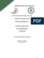 Maria Latta Modulo Formativo Electroterapia