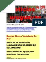 Noticias Uruguayas sábado 18 de agosto del 2012