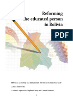 Reforming the Educated Person in Bolivia