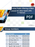The Initial Public Offering of BIDV