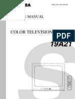 3521009 Toshiba TV Service Manual CF19A21