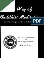 The Way of Buddhist Meditation