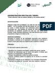 Seminario Ciclo 2 - Administración Efectiva del Tiempo (Descripción)