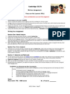 celta assignment lesson from the classroom Celta lessons from the classroom - marking grid candidate to complete this section name submission deadline celta assignment - lessons from the classroom 1 preparation read or re-read scrivener chapter 17 collect up and review.