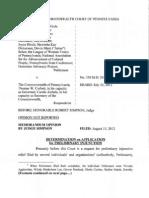 Order Re Denial of PI in Applewhite v. PA (Voter ID)